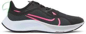 Nike Black and Pink Air Zoom Pegasus 37 Shield Sneakers