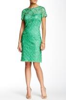 Sue Wong Illusion Ribbon Embellished Dress N5136