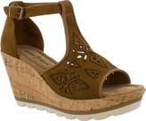 Minnetonka Women's Ellis Wedge T Strap Sandal