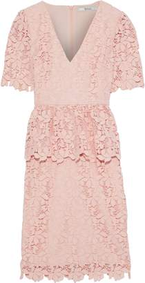 Badgley Mischka Guipure Lace Peplum Dress