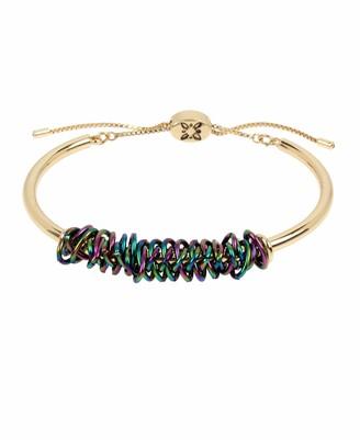 BCBGeneration BCBG Generation Women's Rainbow Wire Wrapped Adjustable Slider Bracelet