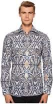 Eton Slim Fit Large Paisley Print Shirt Men's Clothing