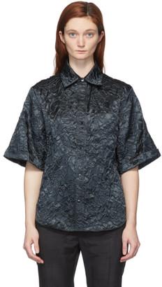 Toga Black Shantung Rose Emboss Shirt