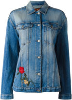 7 For All Mankind embroidered denim jacket - women - Cotton/Spandex/Elastane - S