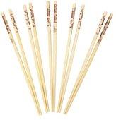 Dexam Bamboo Chopsticks with Dragon Print Pack of 10 pairs