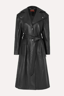 Altuzarra Dickson Fringed Leather Trench Coat - Black