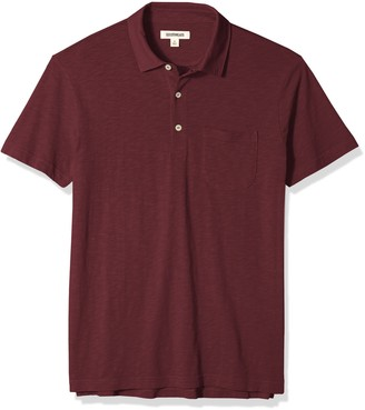Goodthreads Amazon Brand mens Short-sleeve Slub Polo Short Sleeve Polo Shirt - pink -