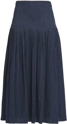 Co Metallic Crepe Jacquard Midi Skirt