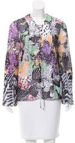 Just Cavalli Abstract Print Bell Sleeve Blouse