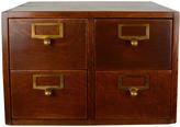 Rejuvenation 4-Drawer Oak Card Catalog Cabinet c1930