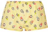 Eres + Lhd Printed Cotton Shorts - Pastel yellow