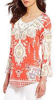 Reba Embellished Print Tunic