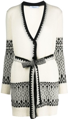 Blumarine Patterned Stud Detail Cardigan