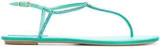 Rene Caovilla Diana rhinestone-embellished thong sandals