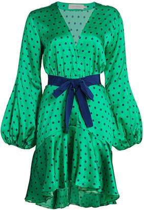 Silvia Tcherassi Emma Polka Dot Ruffled Mini Dress