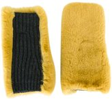 Marni rabbit fur mittens