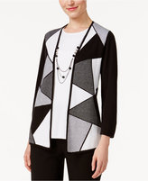 Alfred Dunner City Life Colorblocked Layered-Look Sweater
