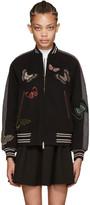 Valentino Grey Embroidered Bomber Jacket