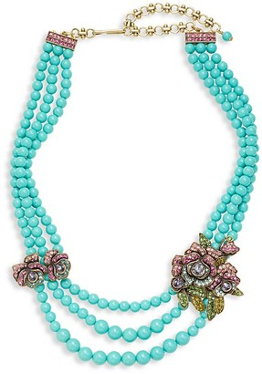 Heidi Daus Elysees Multi-Color Crystal Glass Beaded Necklace
