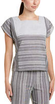 ENGLISH FACTORY Patterned Linen-Blend Top