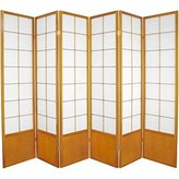 Oriental Furniture Widest Size Office Partitions, 6-Feet Zen Japanese Shoji Privacy Screen Room Divider, Finish