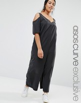 Asos Cold Shoulder Minimal Jumpsuit