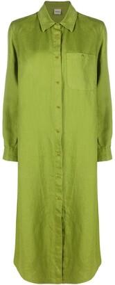 Aspesi Patch-Pocket Linen Shirt Dress