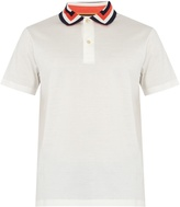Paul Smith Striped-collar cotton polo shirt
