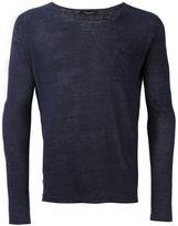 Roberto Collina long sleeve T-shirt - men - Linen/Flax - 46