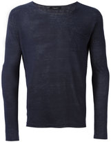 Roberto Collina long sleeve T-shirt - men - Linen/Flax - 52
