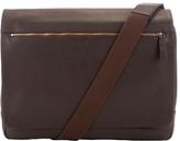 John Lewis Oxford Leather Messenger Bag, Brown