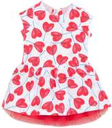 Catimini Girls Knit Dress With Tulle Underskirt