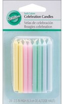 Wilton Soft Colors Round Candles, 3 packs of 24.
