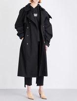 Vetements Oversized cotton-gabardine trench coat