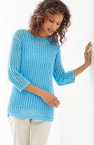 J. Jill Bay Breeze Open-Stitch Pullover