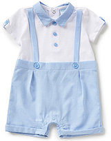Starting Out Treasures Baby Boys Newborn-6 Months Faux-Suspender Seersucker Shortall