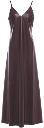Nanushka Anira Vegan Leather Maxi Dress