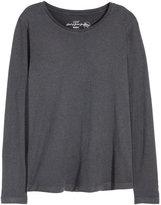 H&M Long-sleeved Jersey Top - Dark gray - Ladies
