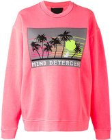 Alexander Wang mind detergent patch sweatshirt - women - Cotton/Polyester - XS