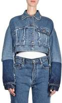 Acne Studios Distressed Crop Denim Jacket