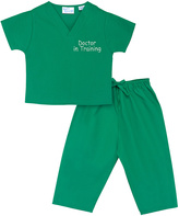 Princess Linens Teal 'Doctor in Training' Scrubs Top & Pants - Infant