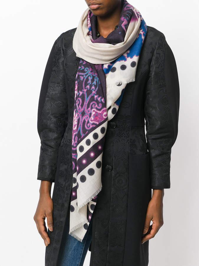 Etro paisley wrap scarf
