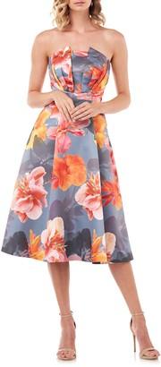 Kay Unger Lea Strapless Mikado Cocktail Dress