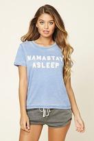 Forever 21 Namastay Asleep Graphic PJ Tee