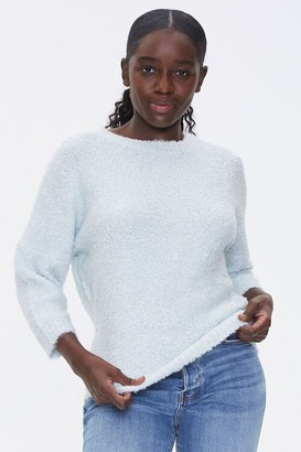 Forever 21 Fuzzy Crew Neck Sweater