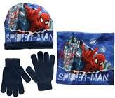 Marvel Boy's Spiderman in the City Scarf, Hat & Glove Set
