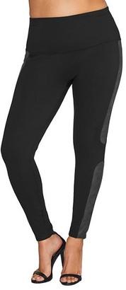 Spanx Plus Size Faux Leather Panel Ponte Leggings