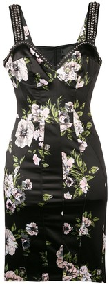 Philipp Plein Flowers stud-embellished dress