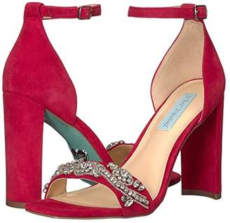 Betsey Johnson Blue By Blue by Dany (Red Suede) Women's Shoes