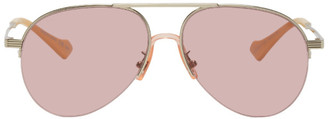 Gucci Silver and Pink GG0742S Sunglasses